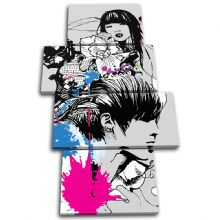 Abstract Girl Design Fashion - 13-1899(00B)-MP04-PO